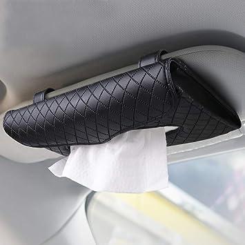 Beaverve Auto Taschentuchhalter Luxus Tissue Box Halter Für Auto Sonnenblende Serviettenhalter Hängende Auto Tissues Halter Für Auto Lkw Dekoration Pu Leder Rücksitz Auto Tissue Box Mit 1 Tissue Refill Auto