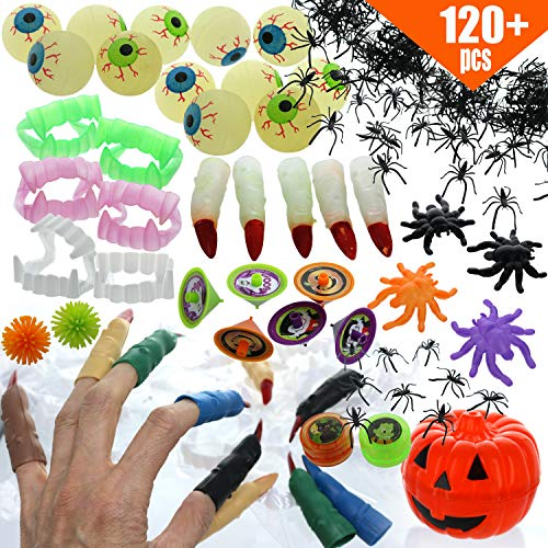 Halloween Trick Or Treating Safety Tips (GIFTEXPRESS 120 Pcs Bulk Halloween Toys Assortment for Kids Goodie Bag Fillers, Trick or Treating, Giveaway Gift, School Prizes, Classroom Game)