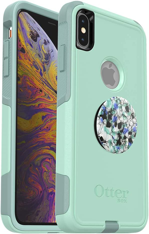 Lote: OtterBox Commuter Series Funda para iPhone XS MAX - (Ocean Way) + PopSockets PopGrip - (Serpentine Granite): Amazon.es: Electrónica