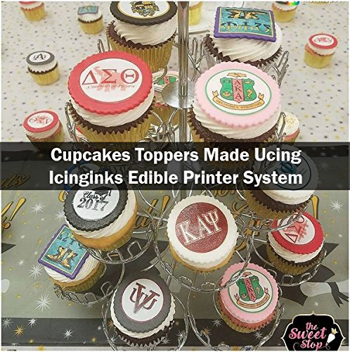 Edible Printer Bundle - Icinginks Canon Cake Printer With Refillable Edible Cartridges, Icing Sheets Pack - 12 Sheets - Newer Model Edible Printer by Icinginks (Image #4)