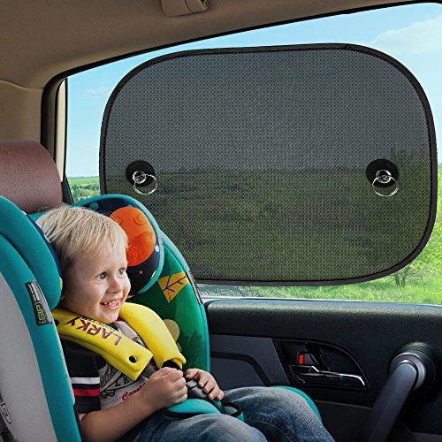 lovely 2 Pièces Pare-soleil Voiture pour Bébés, Topist Pare-soleil Fenêtre de Voiture pour Bébé Enfant, Paresol de Fenêtre de Voiture pour la Plupart de Voitures Blocs Plus de 97% des R