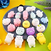 RILLATEK 20 Squeeze Toys Soft Squishy Elastic Toy Animal Squishy Toy for Party Bag Filler Reduce Stress (Size: 20PCS…