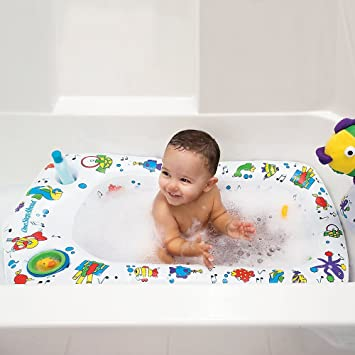 Amazon.com : Secure Transitions Inflatable Baby Tub : Baby Bathing ...
