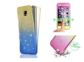 OneFlow Thin Double Silicone Case 2016 Front + Back   Clear Transparent to fit Samsung Galaxy A5