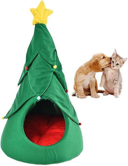 UTOPIAY Cama de Perro Cama iglú de Gato Forma del árbol de Navidad ...