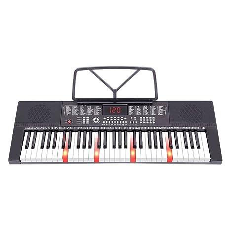 DUWEN Luces de Teclado para Niños con Balas Teclas de Piano DE 61 Teclas Multifunción Instrucción