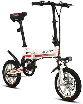 Cyrusher® XF600 Bicicleta Eléctrica Blanco Rojo 240W 36V Bicicleta ...