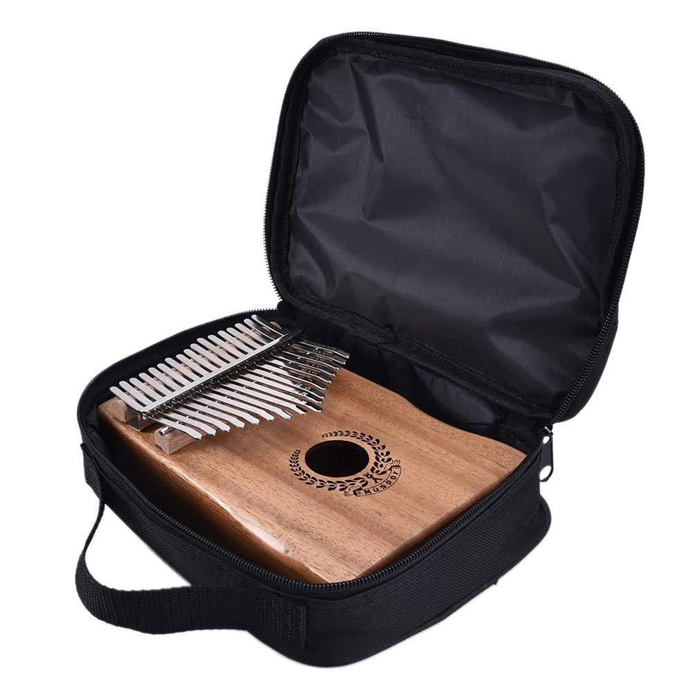 Per 17 Keys Kalimba Portable Thumb Piano Solid Finger Piano Mbira/Marimba Mahogany Body with Tune Hammer&Instruction Beginner Friendly Electric Pickup Bag + Cable by Per (Image #6)