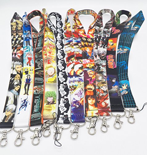 10 Assorted Anime Danganronpa Inuyasha Phone Key Chain Strap LANYARD Set - 10 Animas