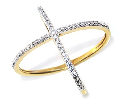 Buy Lady Touch American Diamond Stylist Gold Plated Fashion Ring