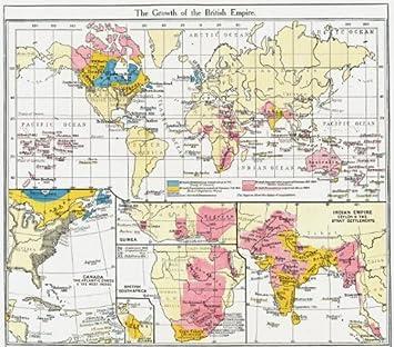 Amazon.com: BRITISH EMPIRE. Canada, West Indies; Guinea; South ...