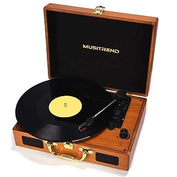 Amazon.com: Musitrend - Tocadiscos de vinilo de 3 ...