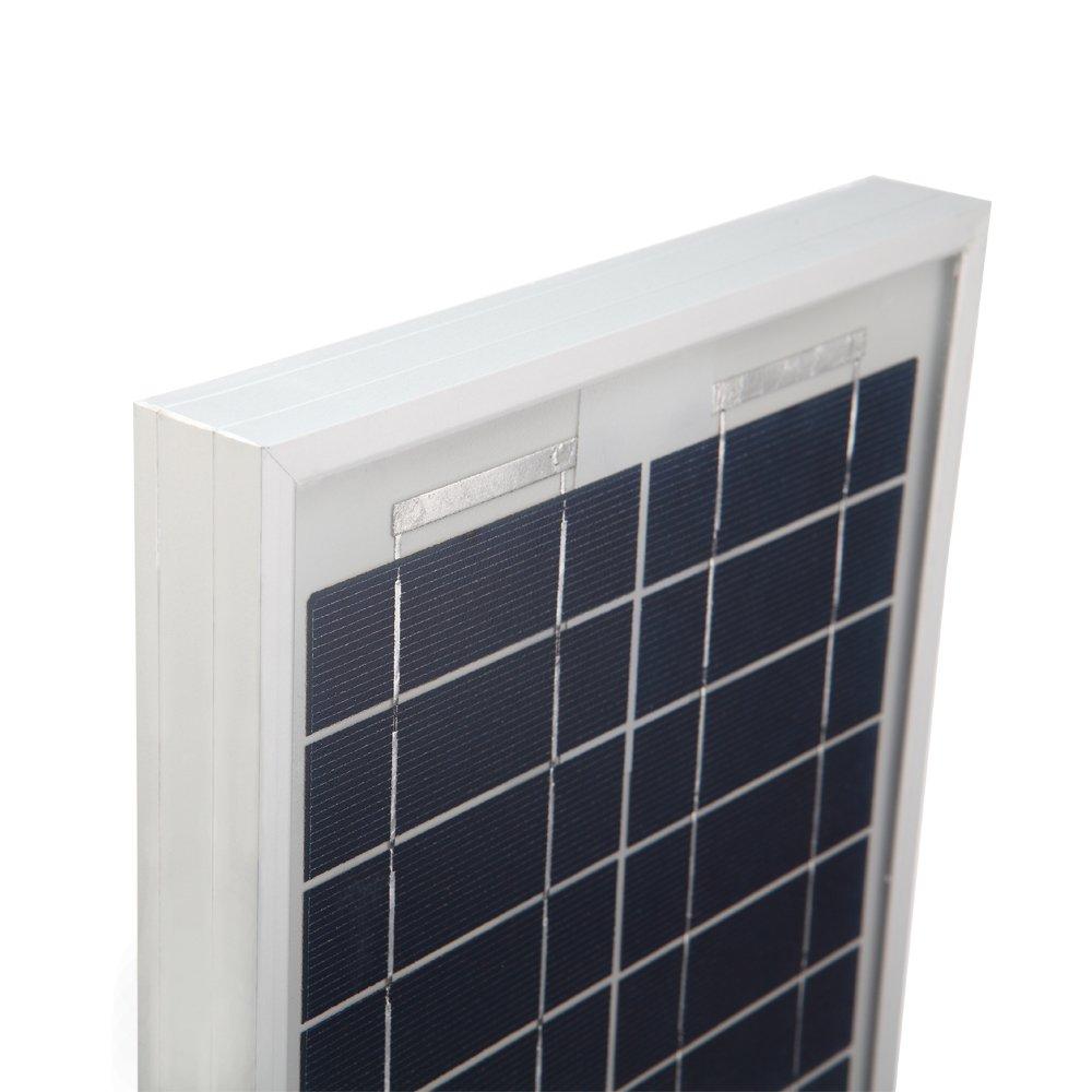 HQST 10 Watt 12Volt Off Grid Polycrystalline Portable Solar Panel for RV Marine Boat by HQST (Image #3)