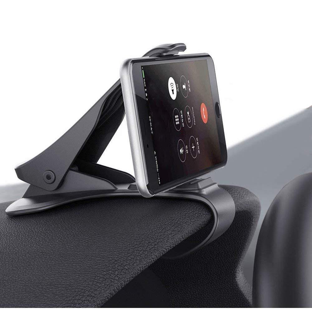 Soporte Telé fono Coche para Salpicadero, ZOORE HUD Soporte Mó vil Coche GPS, Pinza Fuerte de Base Titular Mó vil Vehí cul Compatible iPhone 6/6s/5/7/8Plus/X, Huawei, Samsung, HTC LG 3.0'a 6.5' - Negro HTC LG 3.0a 6.5 - Negro