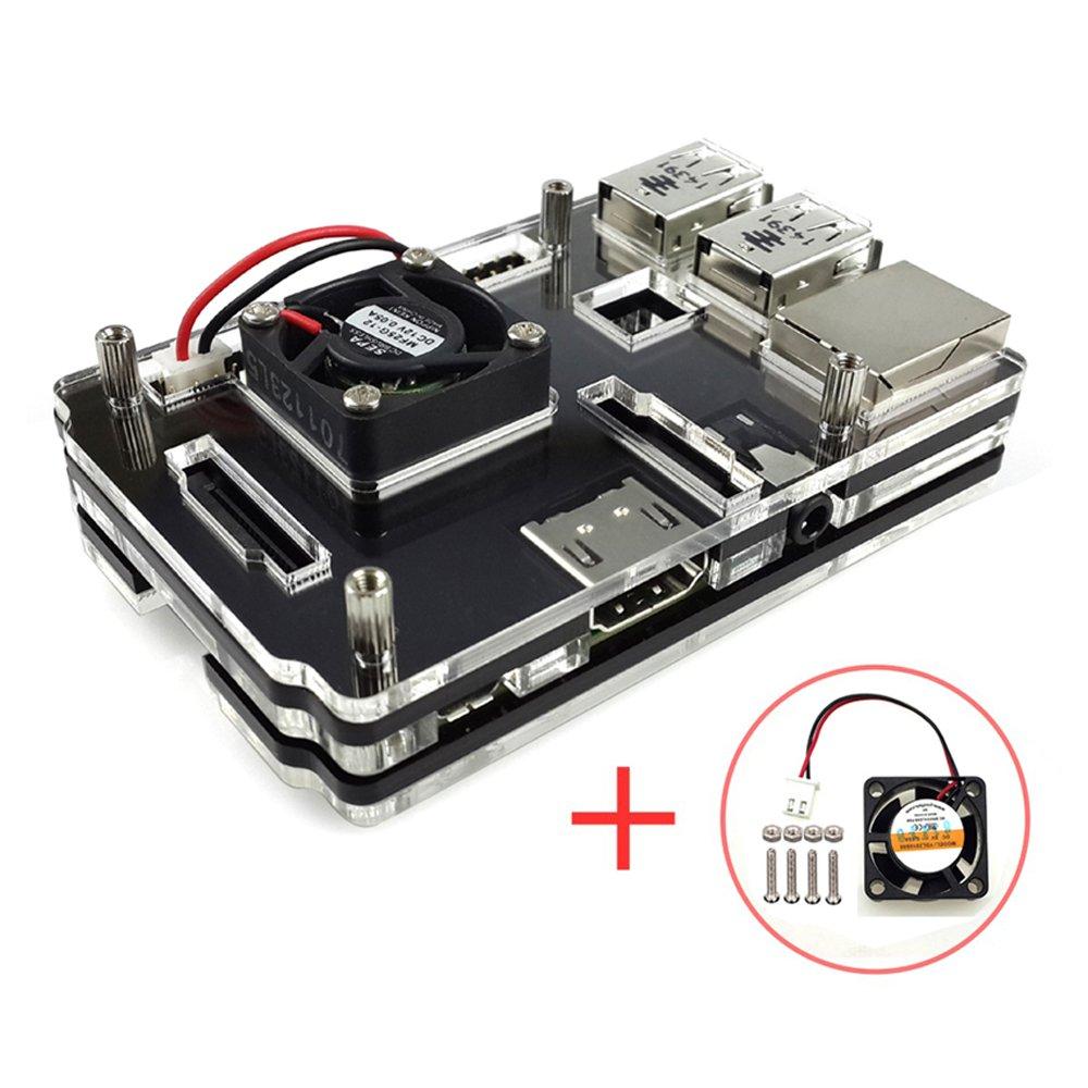 Corkea Raspberry Pi Carcasa acrílico con ventilador para ...
