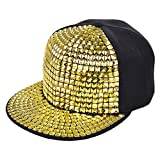 Vbiger Unisex Snapback Hat Flat Baseball Cap Hip Hop Hats (Yellow)