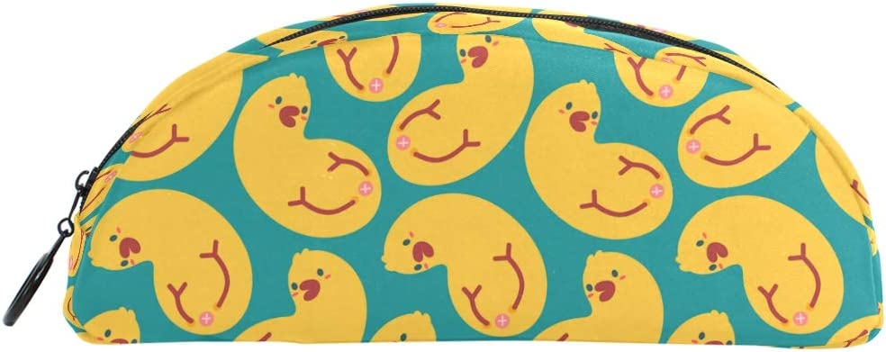 DJROW Pen Pencil Pouch Bag Case Holder Cover, School Office Accessories Student Stationery Rubber Ducks Pattern Cosmetic Makeup Bag for Girl Woman