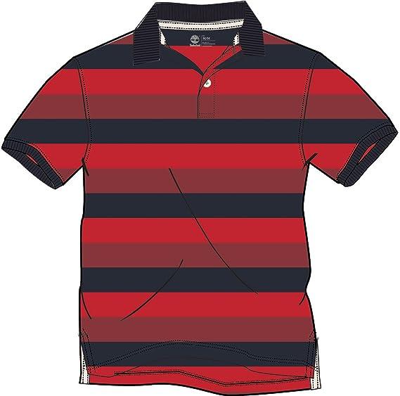 Timberland, Ss Miller Rvr Stripe - Polo Hombre, Rojo (Mars Red Yd ...