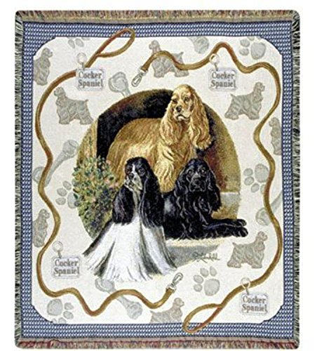 Cocker Spaniel Dog Tapestry Throw By Artist Pat Lehmkuhl 50