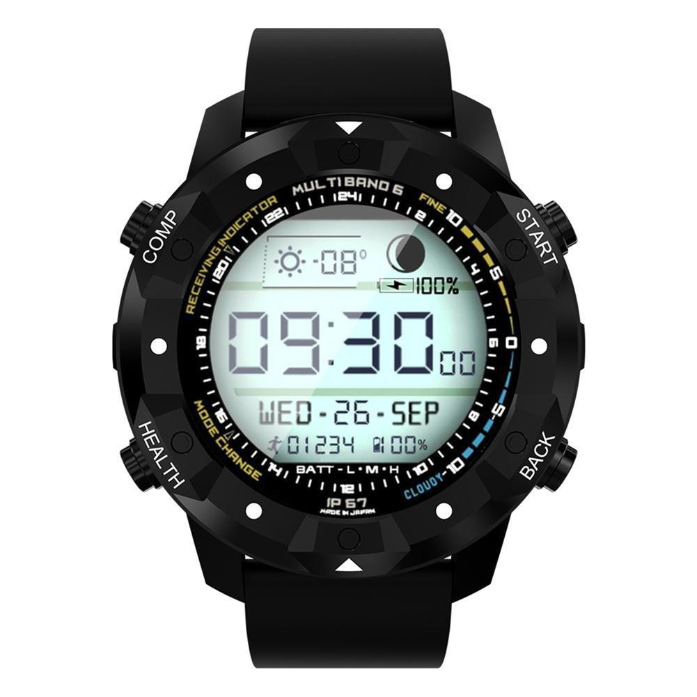 OOLIFENG GPS Relojes inteligentes IP67 a prueba de agua, Deportes al aire libre reloj, Brújula, Pronóstico del tiempo Altímetro, para iOS iPhone Android y ...