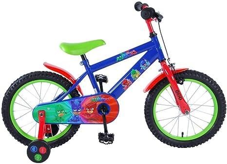 Bicicleta Niño PJ Másk 16 Pulgadas con Ruedas Azul Rojo Verde ...