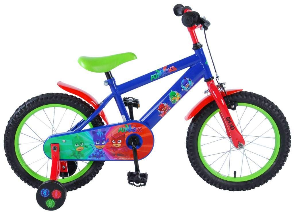 Bicicleta Niñ o Pj Má sk 16 Pulgadas con Ruedas Azul Rojo Verde PJMasks Kubbinga_71663-CH
