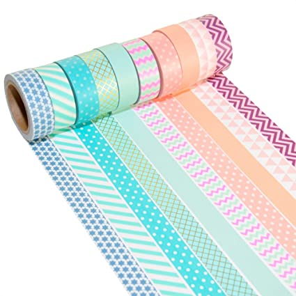 k limit 10er set washi tape dekoband masking tape klebeband washitape scrapbooking diy 6170 amazon de kuche haushalt