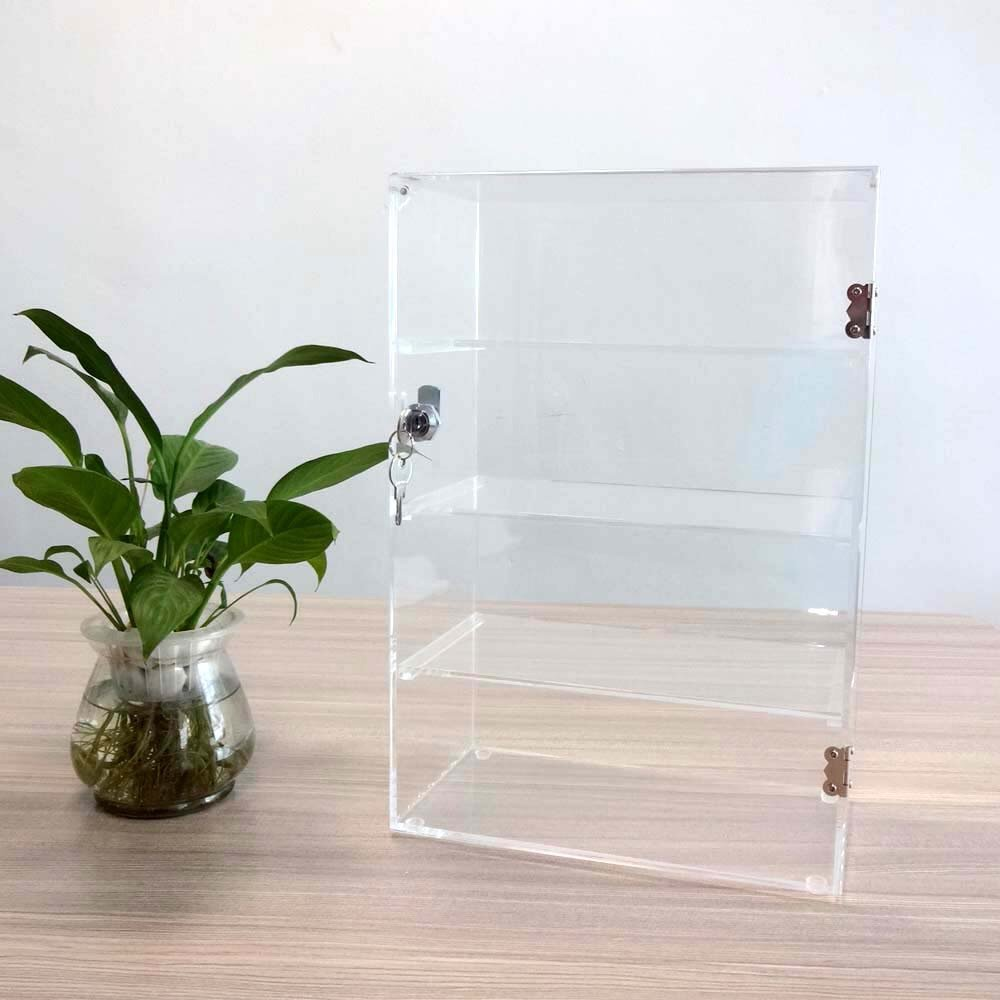 Acrylic Lucite Countertop Display Case Showcase Box Cabinet 12'' X 6'' X 16'' by Marketing Holders (Image #2)
