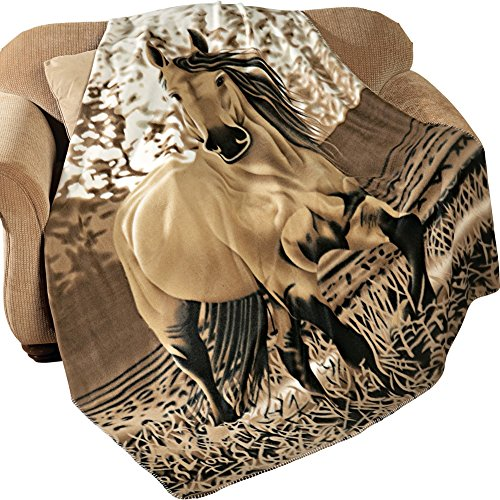"61lBbOLVmGL - Western Horse Soft Fleece Throw Blanket, 63""x73"""