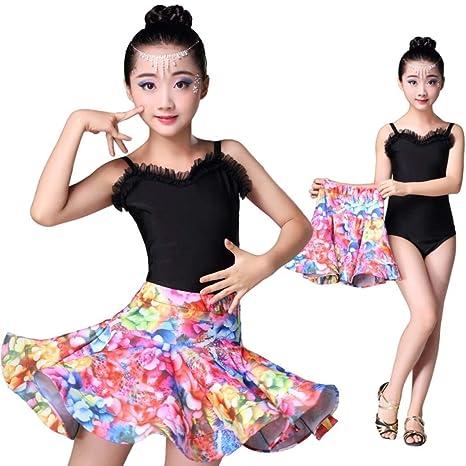 Abiti Bambine e ragazze ZYLL Costumi di Danza per Bambini Concorso di Costumi di Danza Gonna di Danza Latina per Bambini
