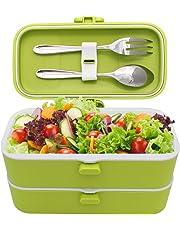 Veggycook Lunch Box Boîte à Repas bento Hermétique Couverts en Acier INOX Inclus sans bpa