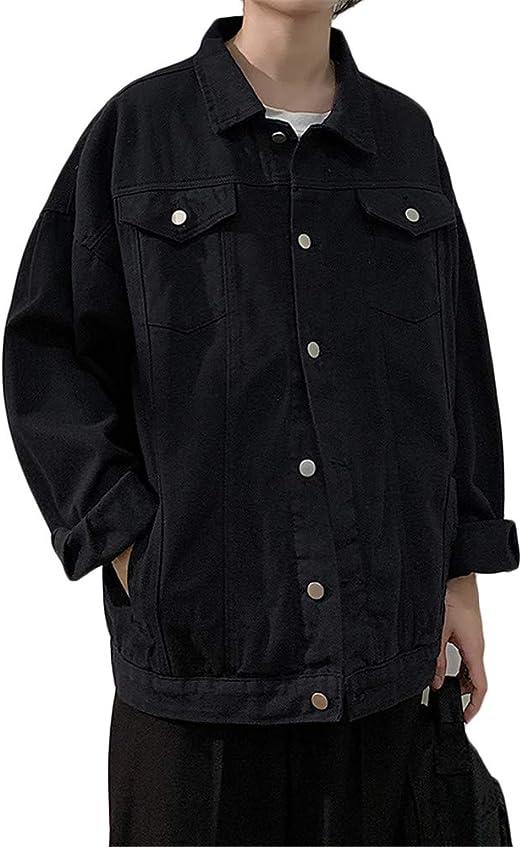 [バンプー] デニム ジャケット メンズ ジージャン 春秋 コート カジュアル 通勤 通学 大きいサイズ 長袖 Gジャン シンプル ファッション カッコイイ