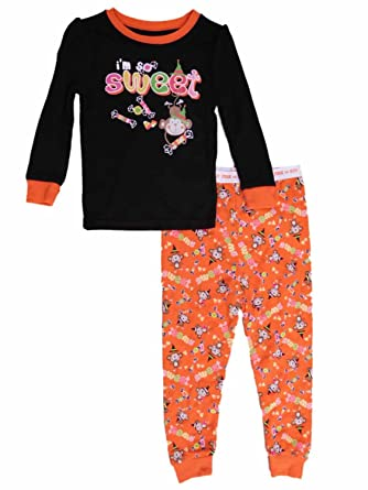 infant toddler girls 2 piece im so sweet halloween pajamas sleep