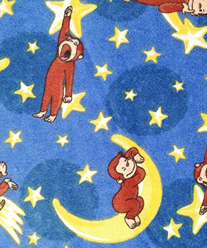 Curious George 1/2 Yard - Adorable Sleeping on The Moon Flannel Fabric (Great for Quilting, Sewing, Craft Projects, Throw Pillows & More) 1/2 Yard x ()