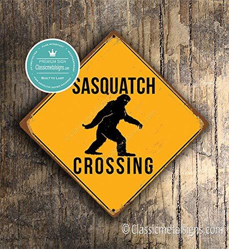 CELYCASY SASQUATCH CROSSING SIGN Sasquatch Xing Signs Sasquatch Warning Sasquatch Sasquatch Decor Sasquatch Art Sasquatch Crossing Signs Sign