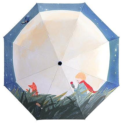 Baocore paraguas plegable mujer paraguas de Golf resistente al viento anti-UV sol lluvia antirradiación