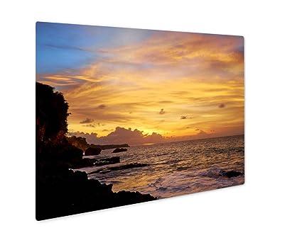 Amazon.com: Ashley Giclee Metal Panel Print, Sunset With Beautiful ...