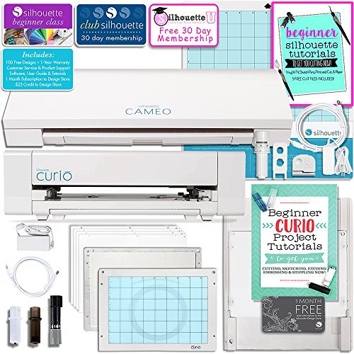 Silhouette Cameo 3 Bluetooth Machine and Curio Machine Bundle by Silhouette