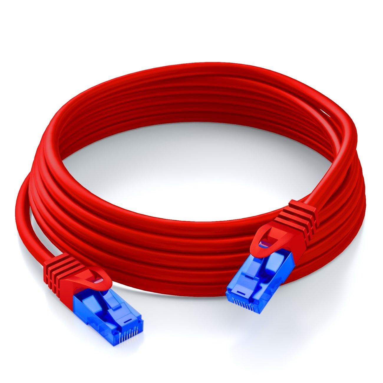 Cable de Red 3 m, Cat6, U//UTP , RMS45, RJ-45, Blanco UTP deleyCON MK1616