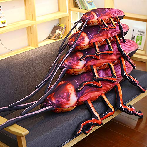 LeSharp Dolls & Stuffed Toys, 22inch Simulation 3D Cockroach Insect Stuffed Plush Pillow Cushion Prank Toy -