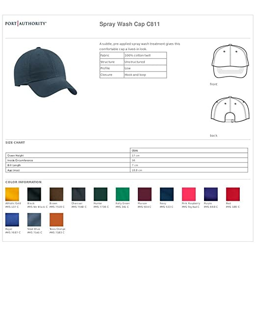 c5198db2 Port Authority - Spray Wash Cap (Steel Blue) at Amazon Men's Clothing  store: Baseball Caps