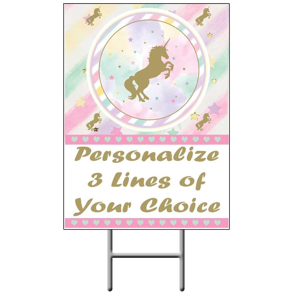 Amazon.com: Unicornio Sparkle Yard Sign (cada uno ...