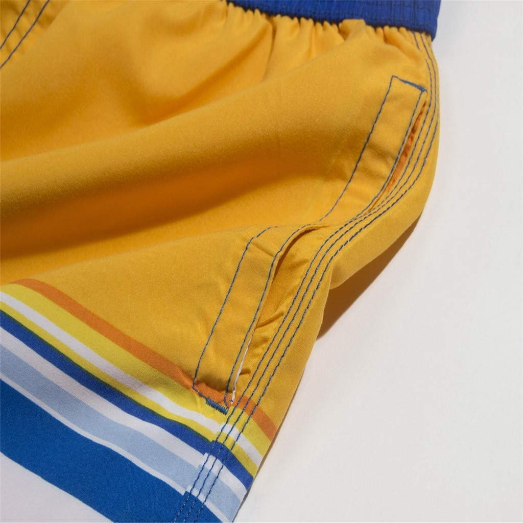 NUWFOR Fashion Men Breathable Trunks Pants Beach Print Running Swimming Underwear(Yellow,US L Waist:36-39'') by NUWFOR (Image #4)