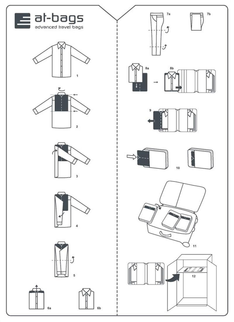 at-bags advanced travel bags - aiuti pieghevole 2 pezzi - realizzati in Austria