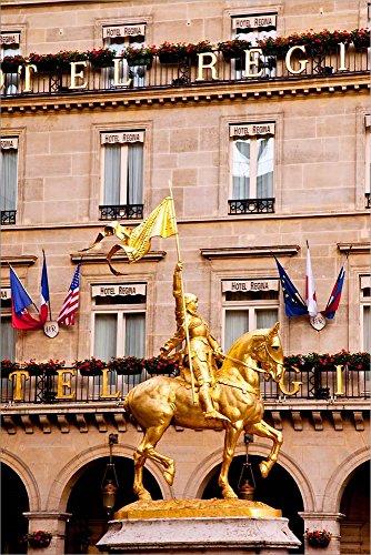 Joan Of Arc Statue Paris - Joan of Arc, Palais du Louvre, Paris, France by Brian Jannsen/Danita Delimont Laminated Art Print, 15 x 22 inches