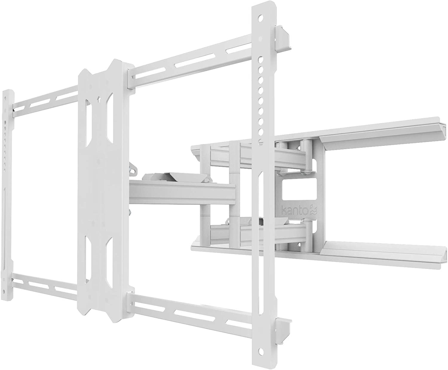 Kanto PDX680W Full Motion Mount for 39-inch to 80-inch TVs, White