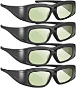 Elikliv Active Shutter 3D Glasses Compatible with Sony Panasonic Samsung 3D