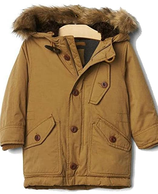 dc6d6107b Baby Gap Boys Khaki Snorkel Parka Winter Coat 12-18 Months  Amazon ...