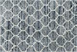 Loloi Rugs QNCYQC-03SPPP Quincy Shag Collection Area, 2'-3'' x 4'-0, Spa/Pebble
