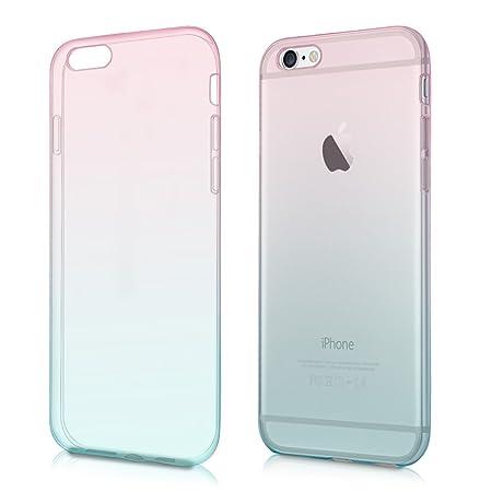 kwmobile Apple iPhone 6 / 6S Hülle - Handyhülle für Apple iPhone 6 / 6S - Handy Case in Pink Blau matt